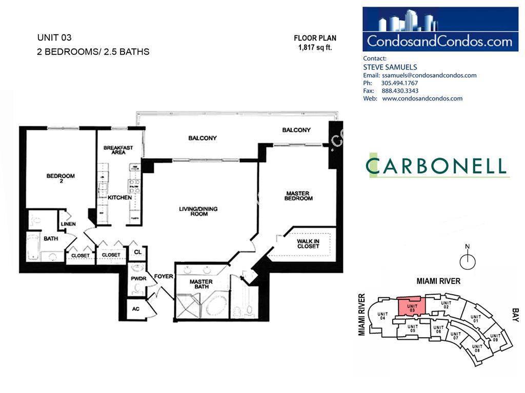 Carbonell Brickell Key Miami Condos For Sale