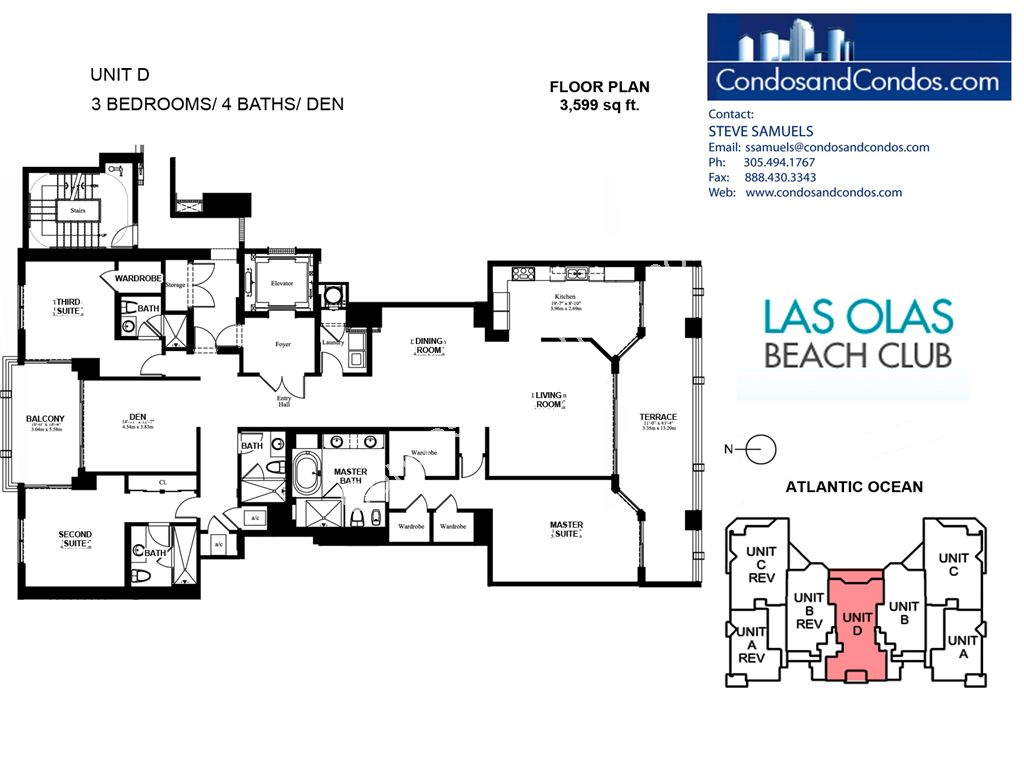Las Olas Beach Club - Unit #D with 3599 SF