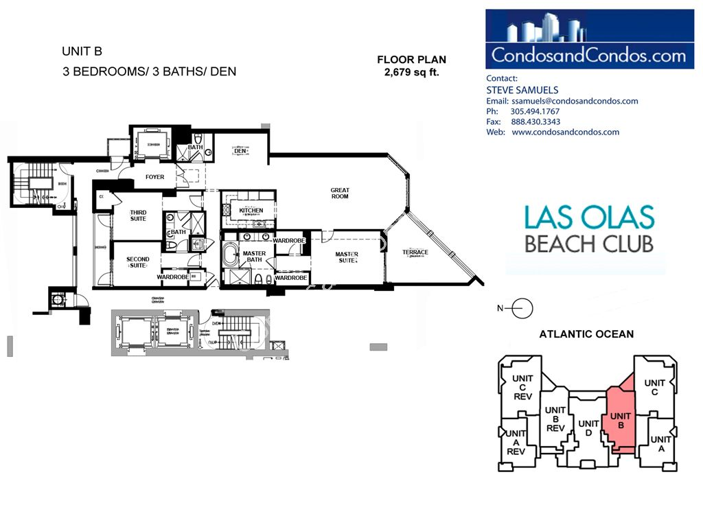 Las Olas Beach Club - Unit #B with 2679 SF