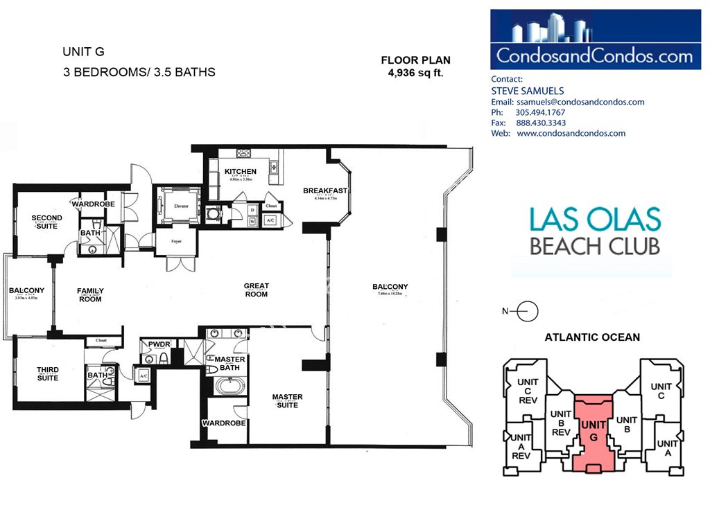 Las Olas Beach Club - Unit #Penthouse G with 4936 SF