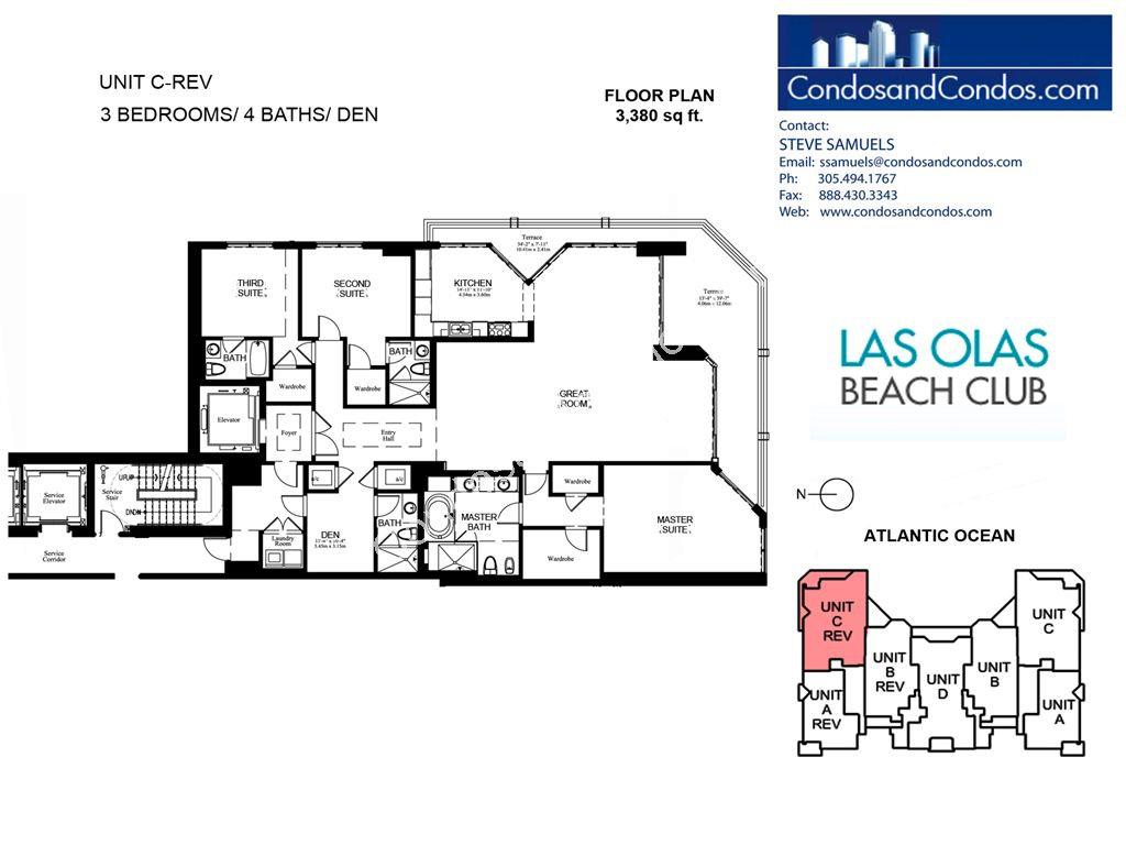 Las Olas Beach Club - Unit #C rev with 3380 SF