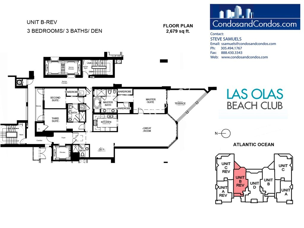 Las Olas Beach Club - Unit #B rev with 2679 SF