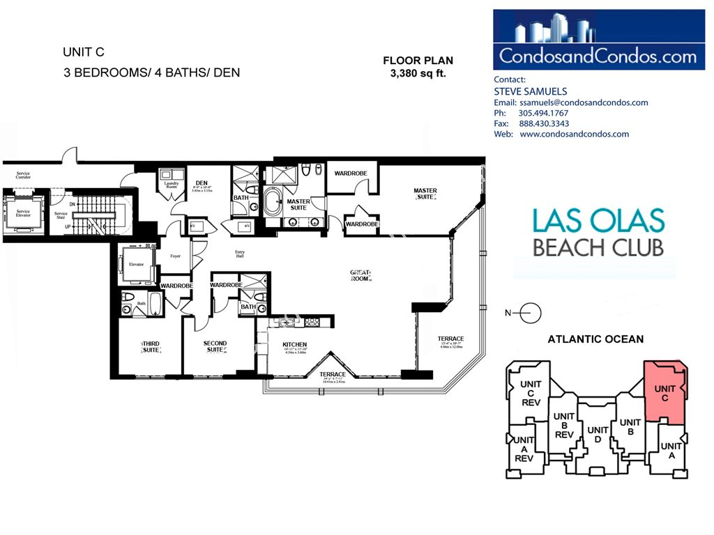 Las Olas Beach Club - Unit #C with 3380 SF