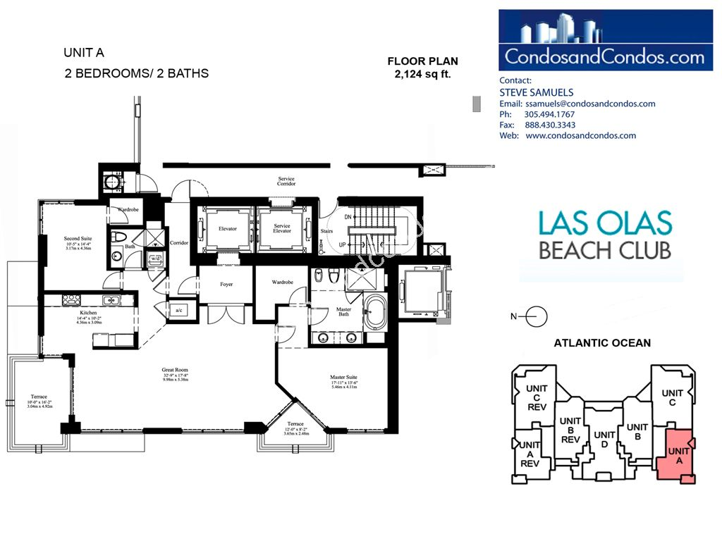 Las Olas Beach Club - Unit #A with 2124 SF