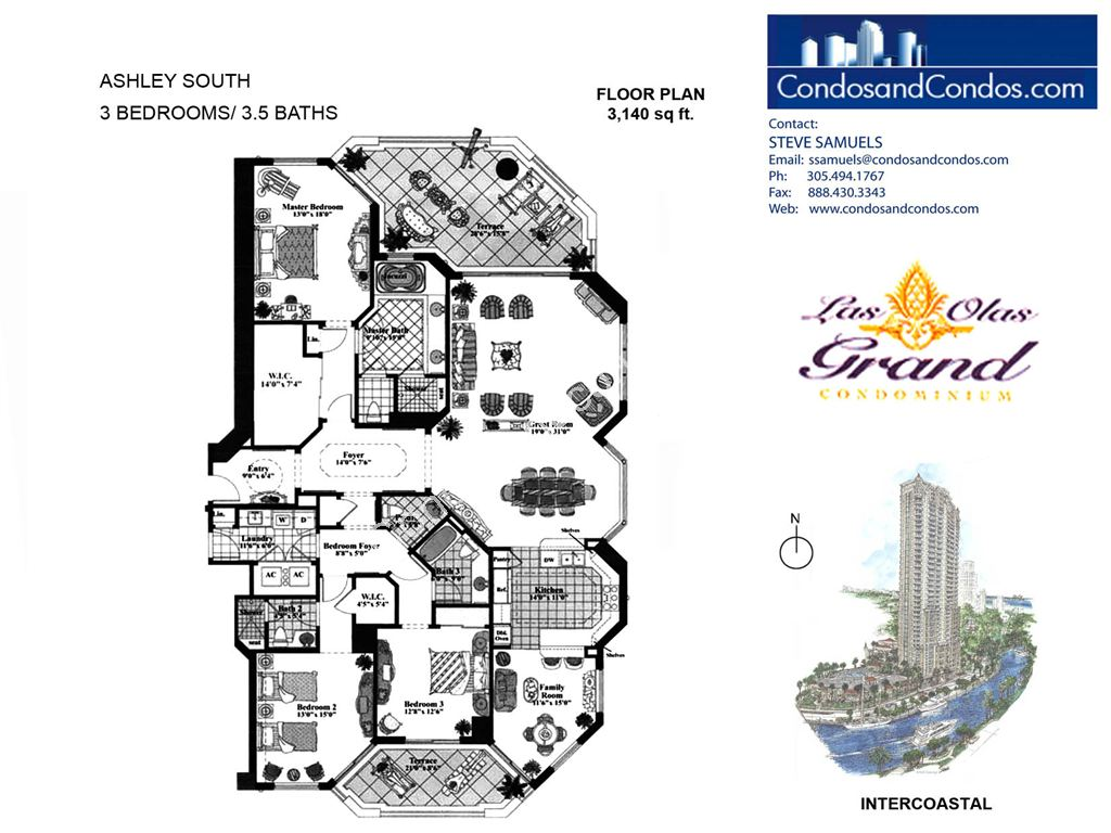Las Olas Grand - Unit #Ashley South with 3140 SF