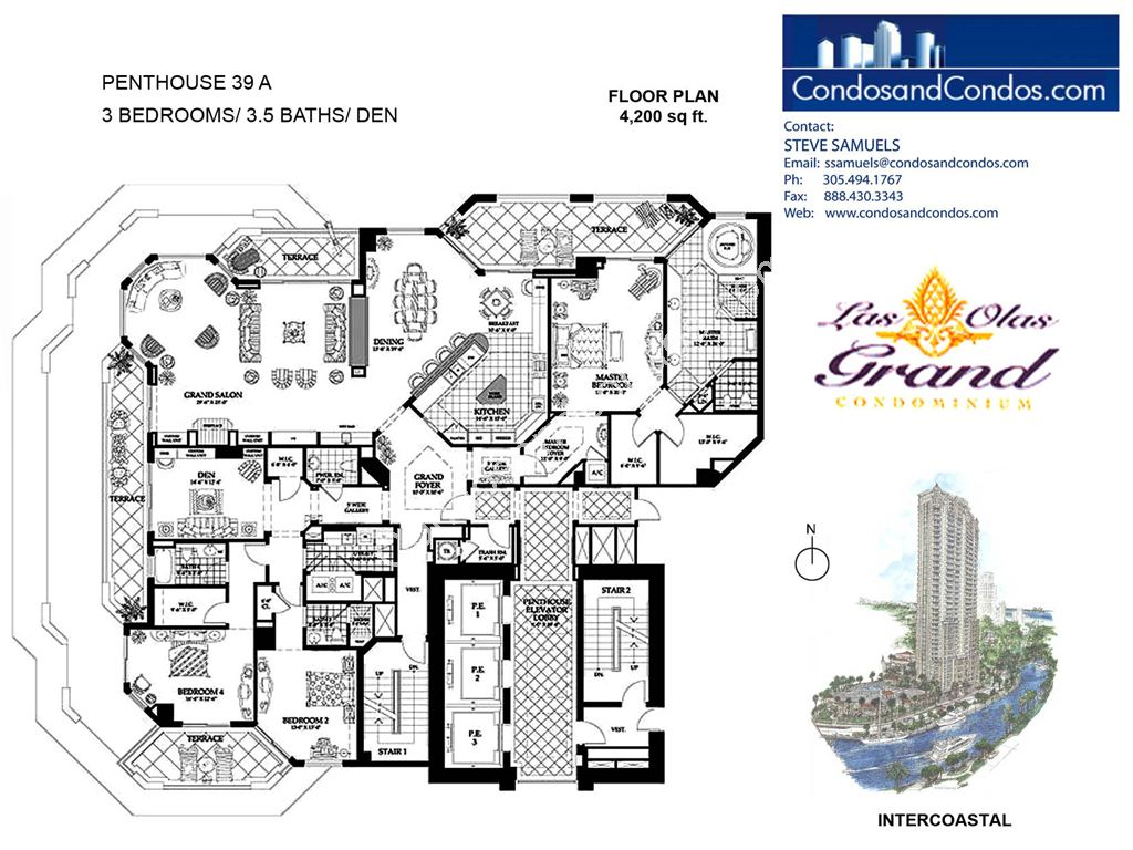 Las Olas Grand - Unit #Penthouse 39 A with 4200 SF
