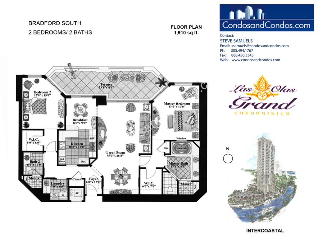 Las Olas Grand - Unit #Bradford South with 1910 SF