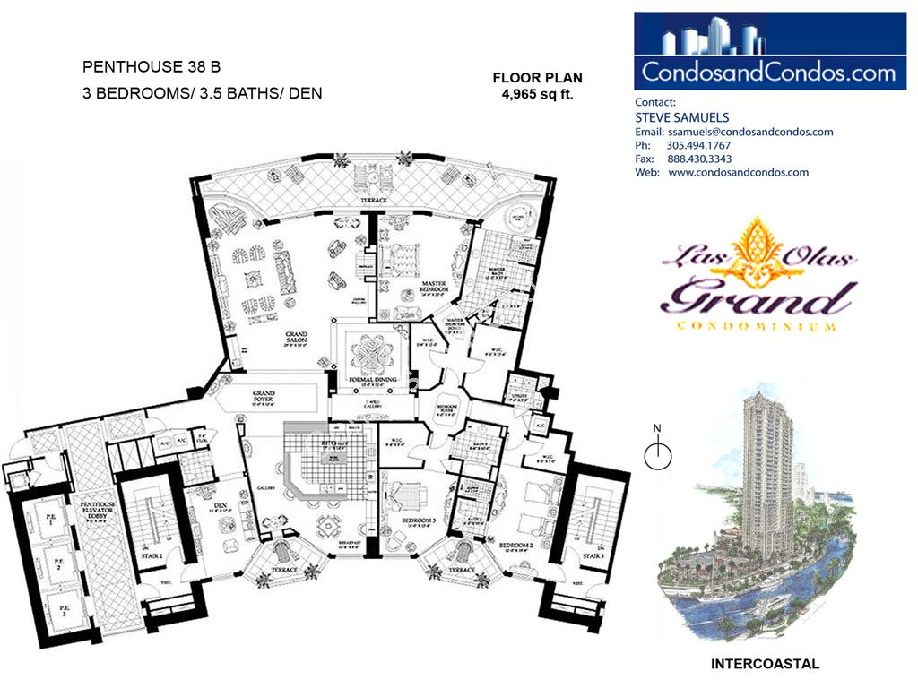 Las Olas Grand - Unit #Penthouse 38 B with 4965 SF
