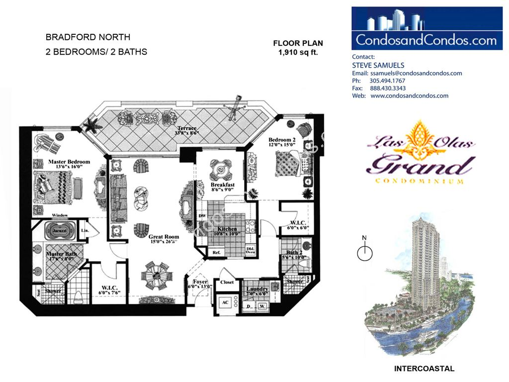 Las Olas Grand - Unit #Bradford North with 1910 SF