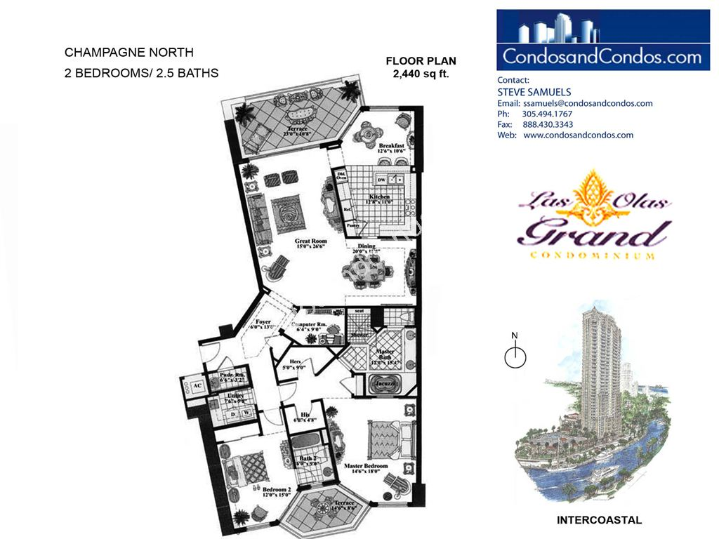Las Olas Grand - Unit #Champagne North with 2440 SF