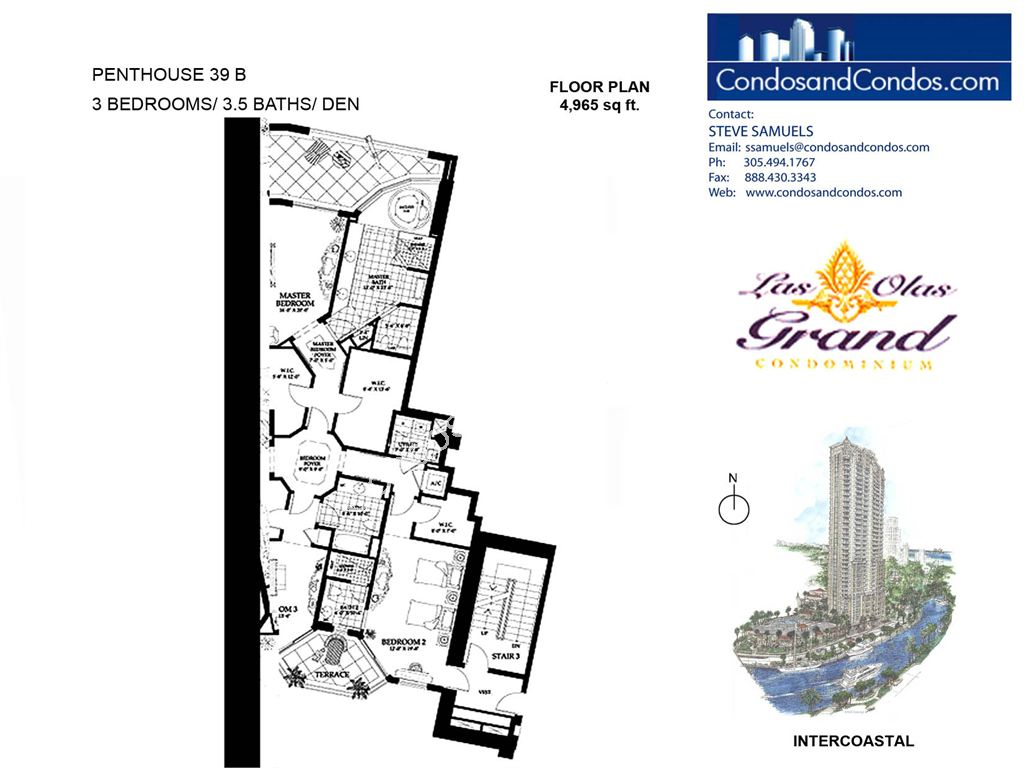 Las Olas Grand - Unit #Penthouse 39 B with 4965 SF