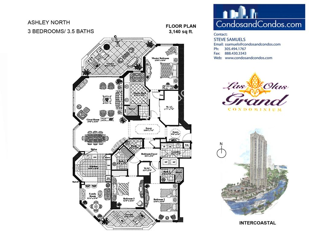Las Olas Grand - Unit #Ashley North with 3140 SF