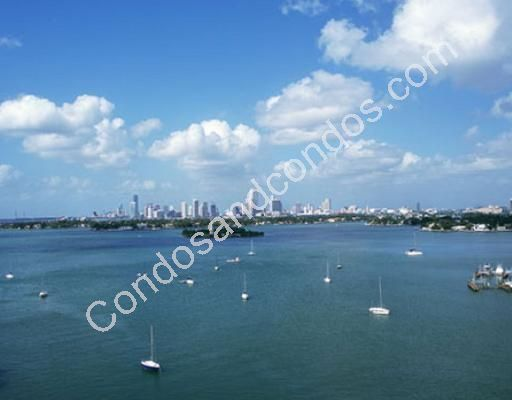 View of Biscayne Bay and Miami skyline