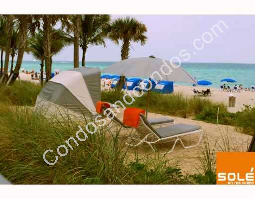 Oceanside covered and uncovered lounge chairs