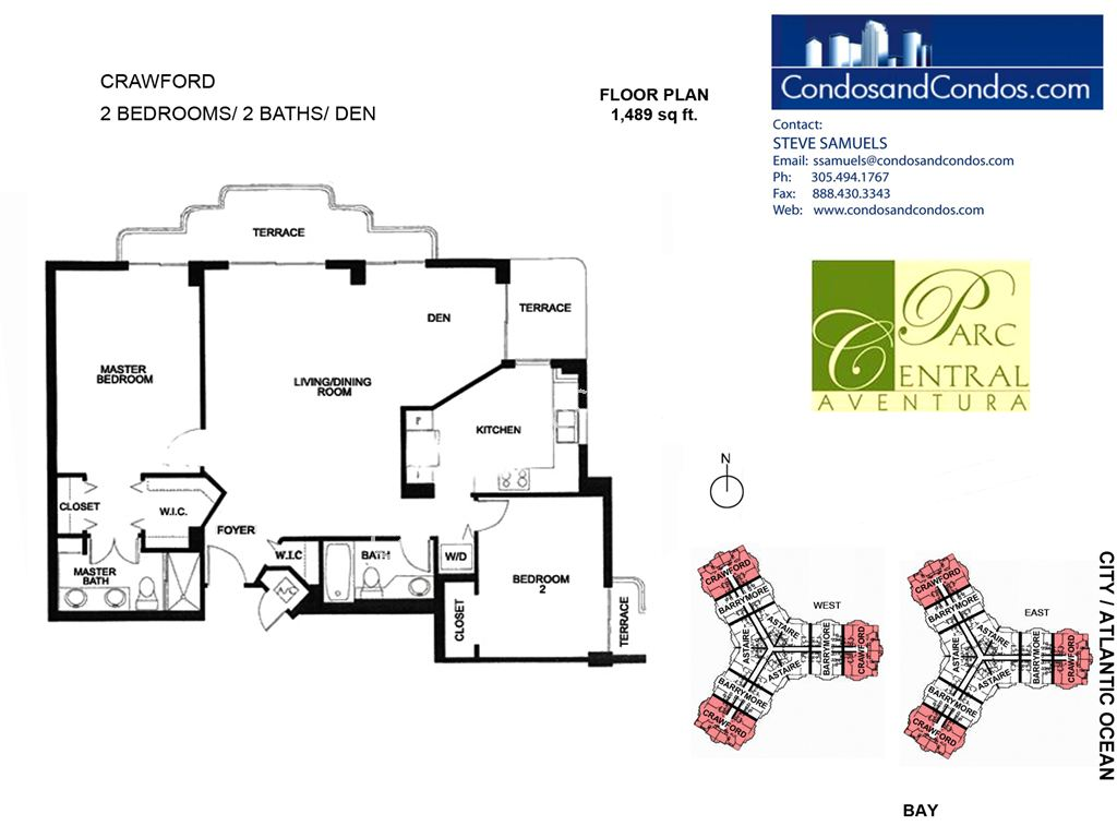 Parc Central - Unit #Crawford with 1489 SF