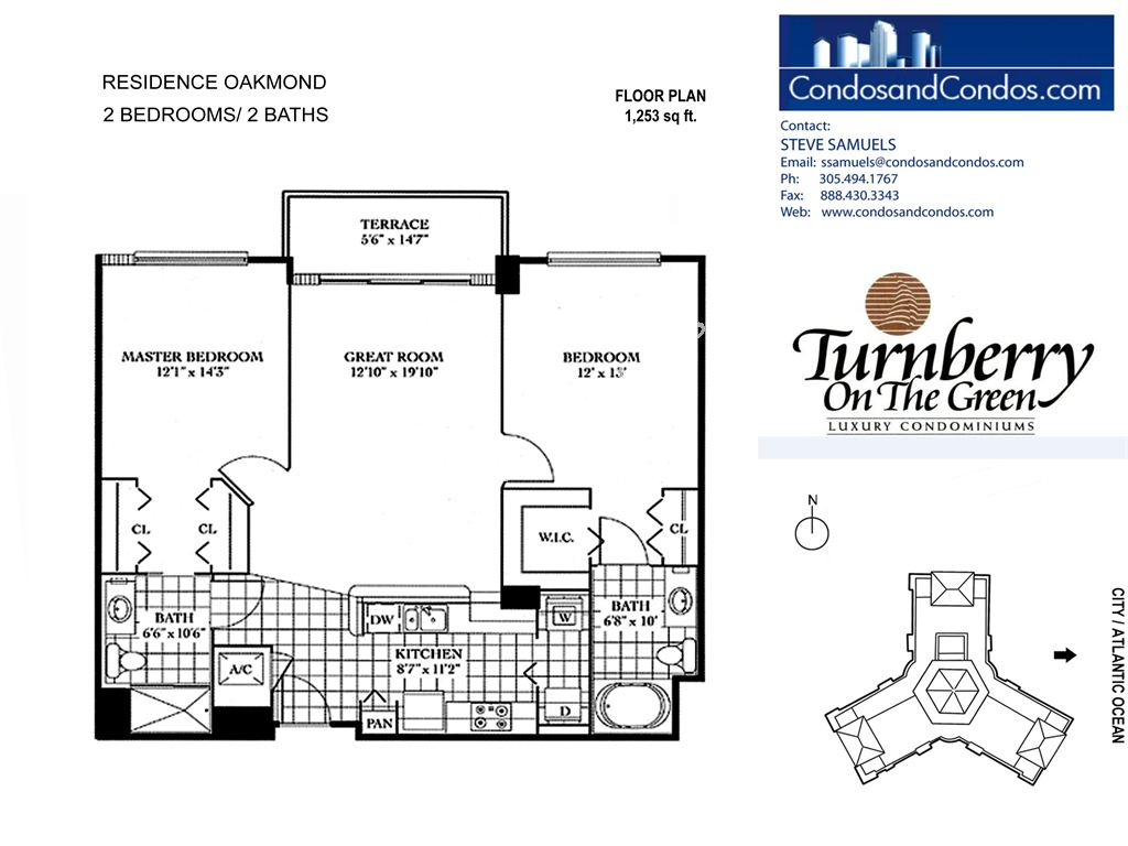 Turnberry on the Green - Unit #OAKMOND with 1253 SF