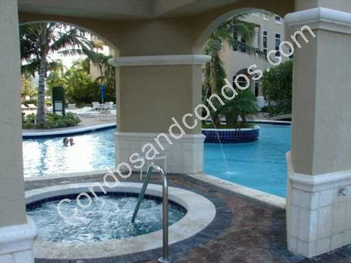 Covered jacuzzi and pool area