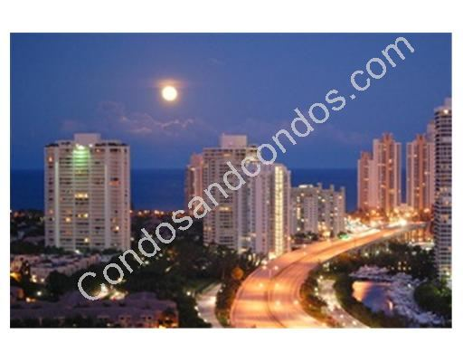 City of Aventura in the evening