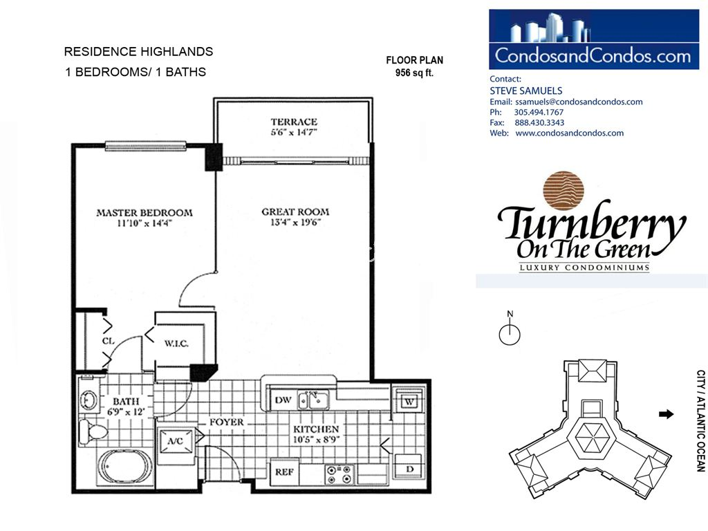 Turnberry on the Green - Unit #HIGHLANDS with 956 SF