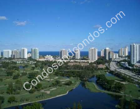 Sprawling vista of Turnberry Isle, Aventura and the Atlantic Ocean