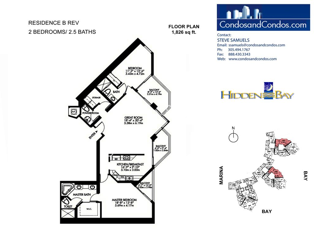 Hidden Bay - Unit #02 | 07 | 12 with 1826 SF