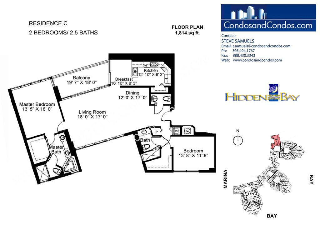Hidden Bay - Unit #01 | 15 with 1814 SF