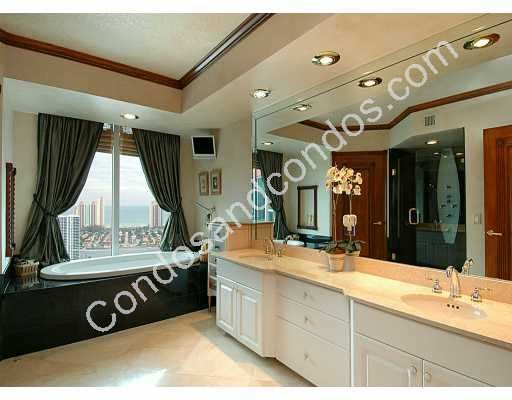 Spacious master bathroom including jacuzzi tub and double vanity