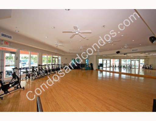 Fitness facility with spinning room and aerobics area