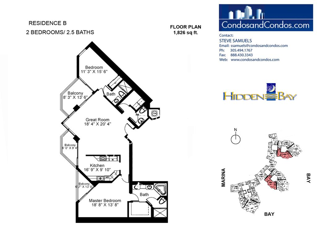 Hidden Bay - Unit #04 | 09 | 14 with 1826 SF