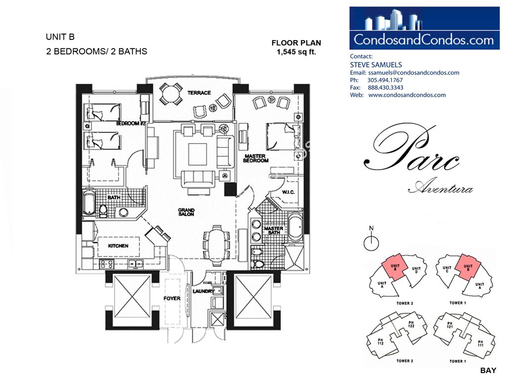 Parc at Turnberry Isles - Unit #B with 1545 SF
