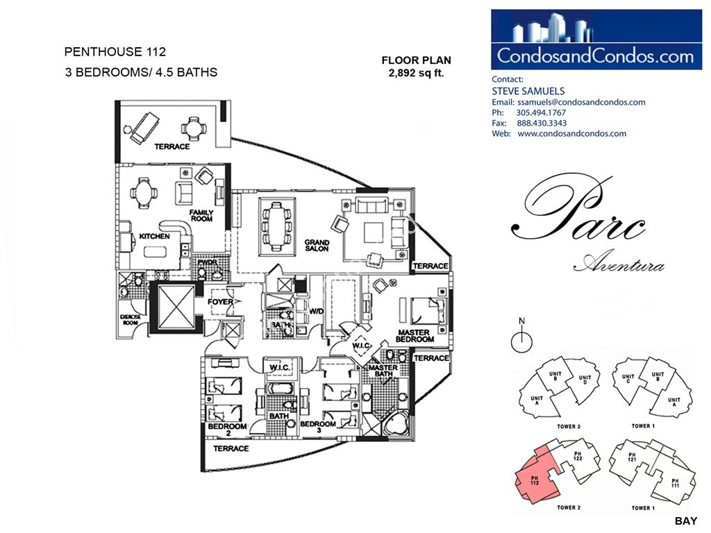 Parc at Turnberry Isles - Unit #Penthouse 112 with 2892 SF