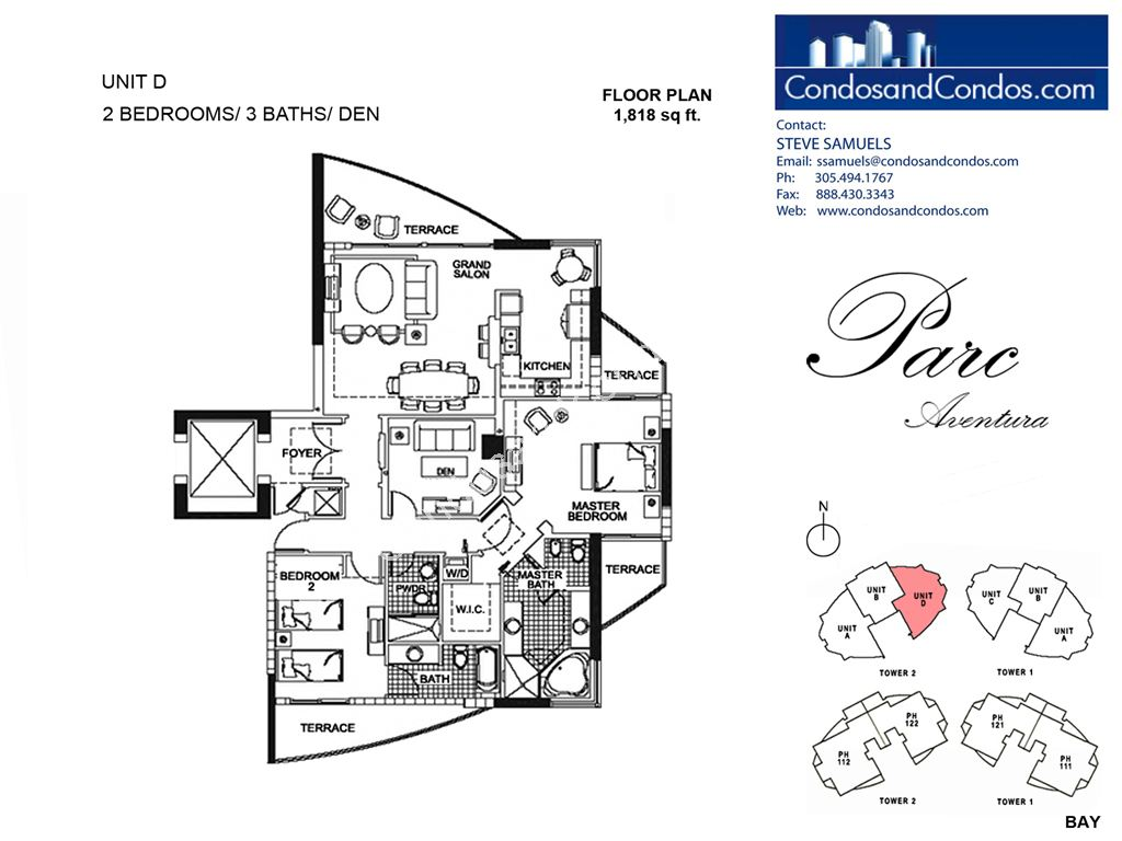 Parc at Turnberry Isles - Unit #D with 1818 SF