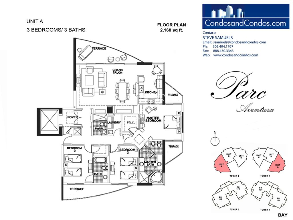 Parc at Turnberry Isles - Unit #A with 2168 SF