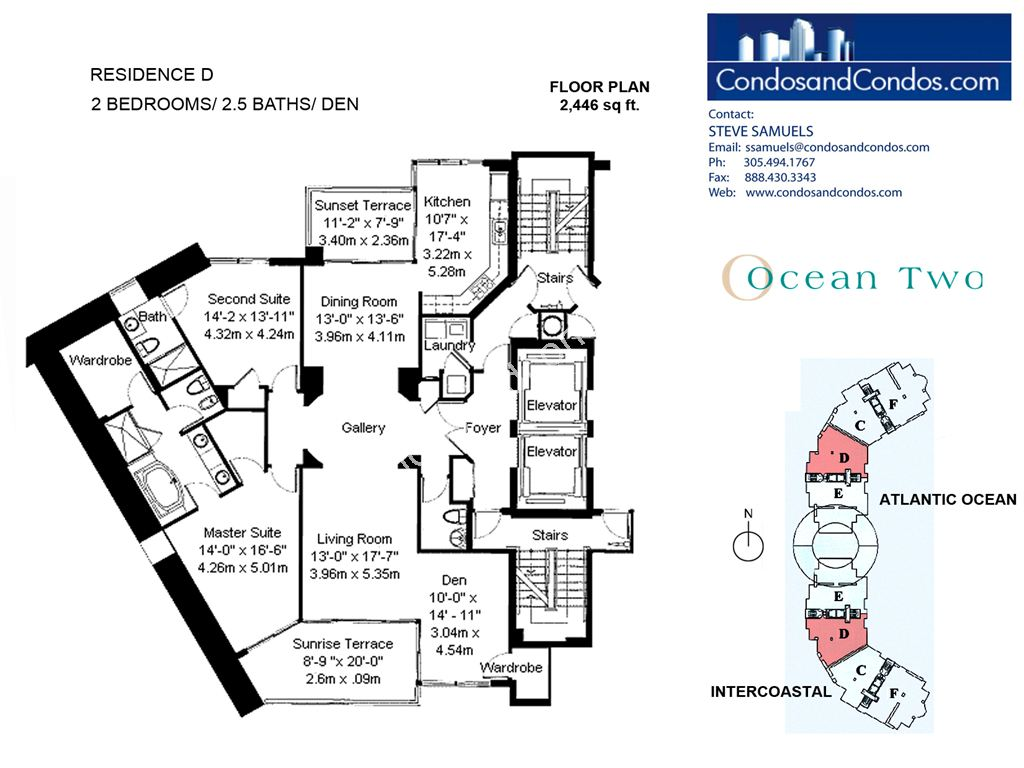 Ocean II - Unit #D with 2446 SF