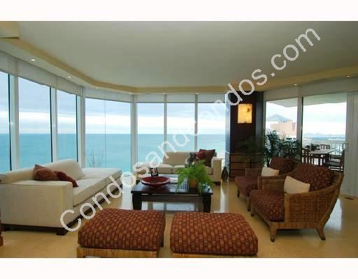 Floor to ceiling window wall and private balconies with breathtaking view