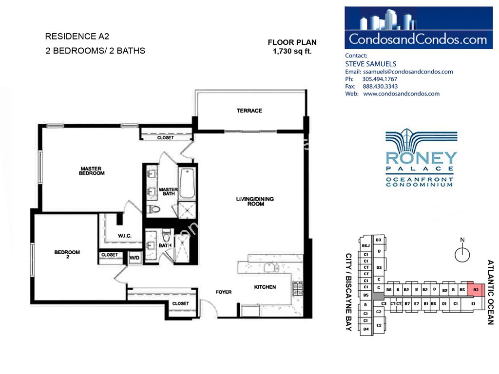 Roney Palace - Unit #A2 with 1730 SF