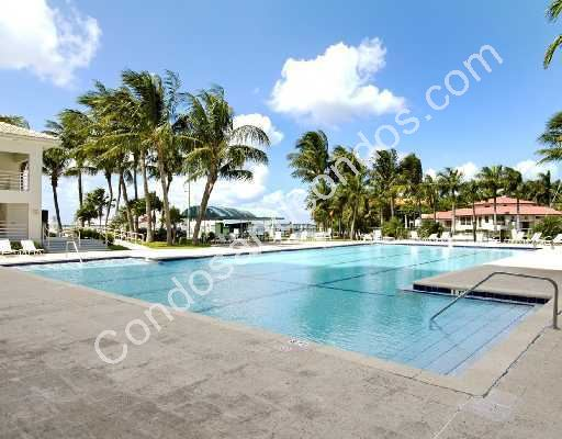 Tropical landscape surrounding the spacious pool deck