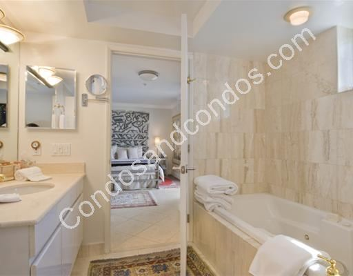 Master bath with marble flooring