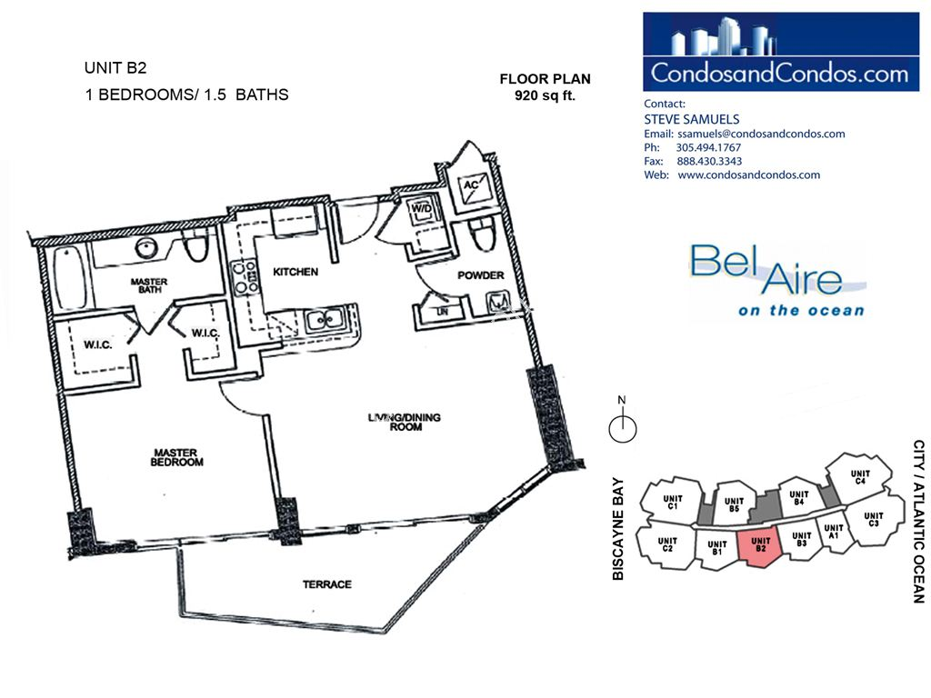 Bel Aire on the Ocean - Unit #B2-06 with 920 SF