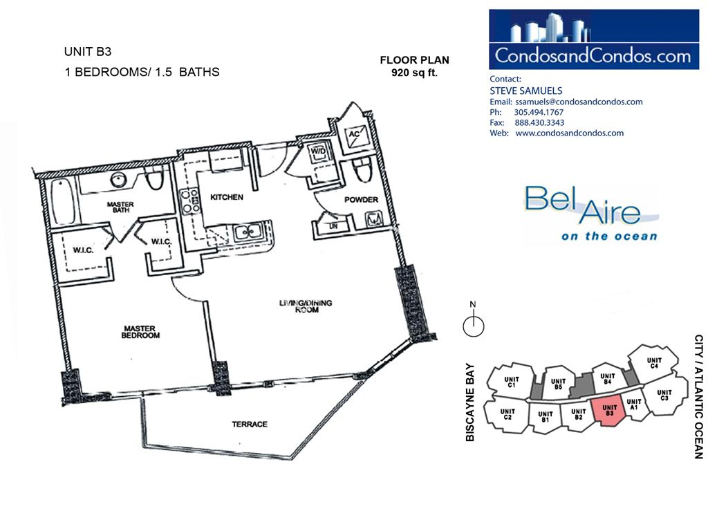 Bel Aire on the Ocean - Unit #B3-05 with 920 SF