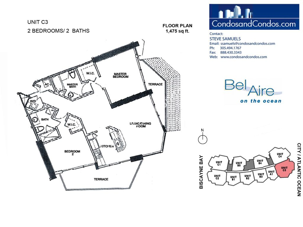 Bel Aire on the Ocean - Unit #C3-03 with 1475 SF