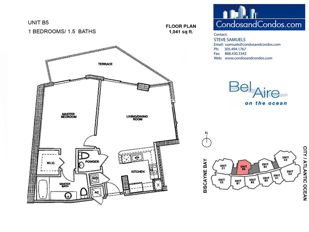 Bel Aire on the Ocean - Unit #B5-10 with 1041 SF