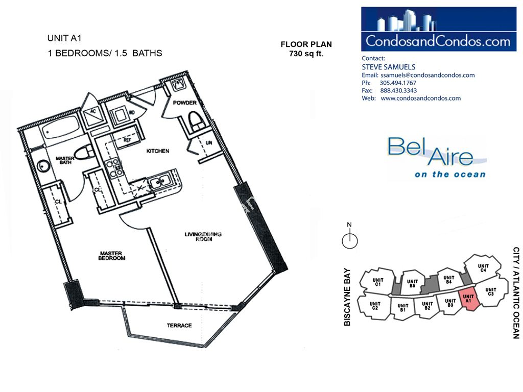 Bel Aire on the Ocean - Unit #A1-04 with 730 SF