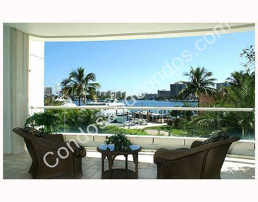 Expansive balcony with fantastic marina view