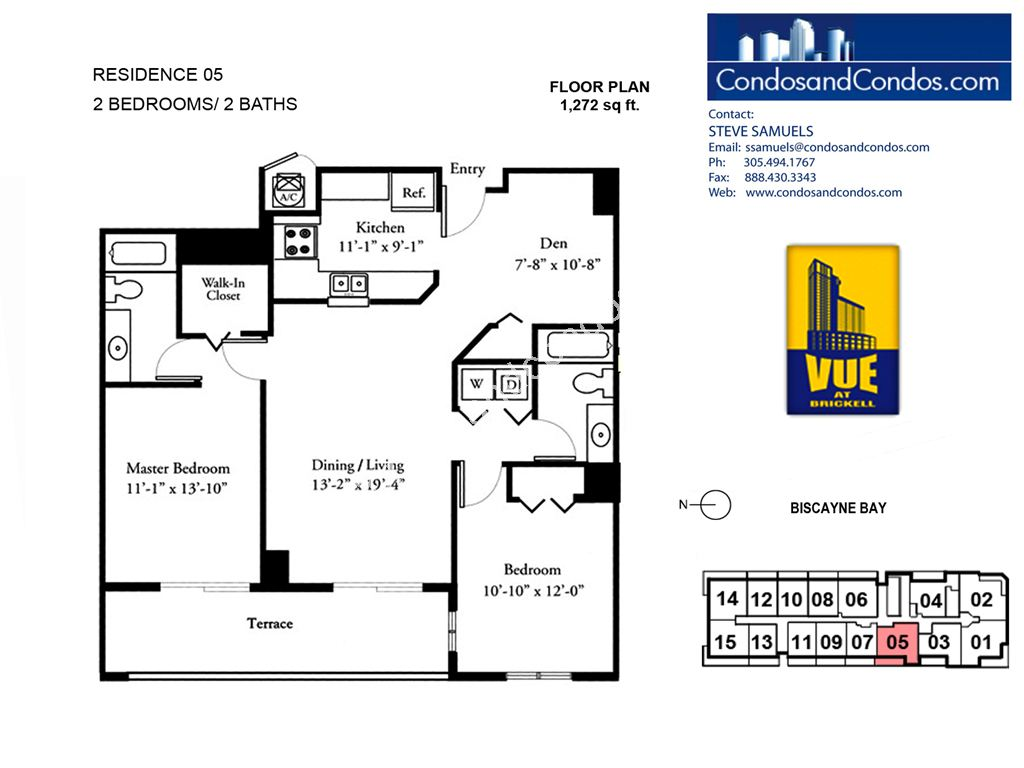 Vue at Brickell - Unit #05 with 1272 SF