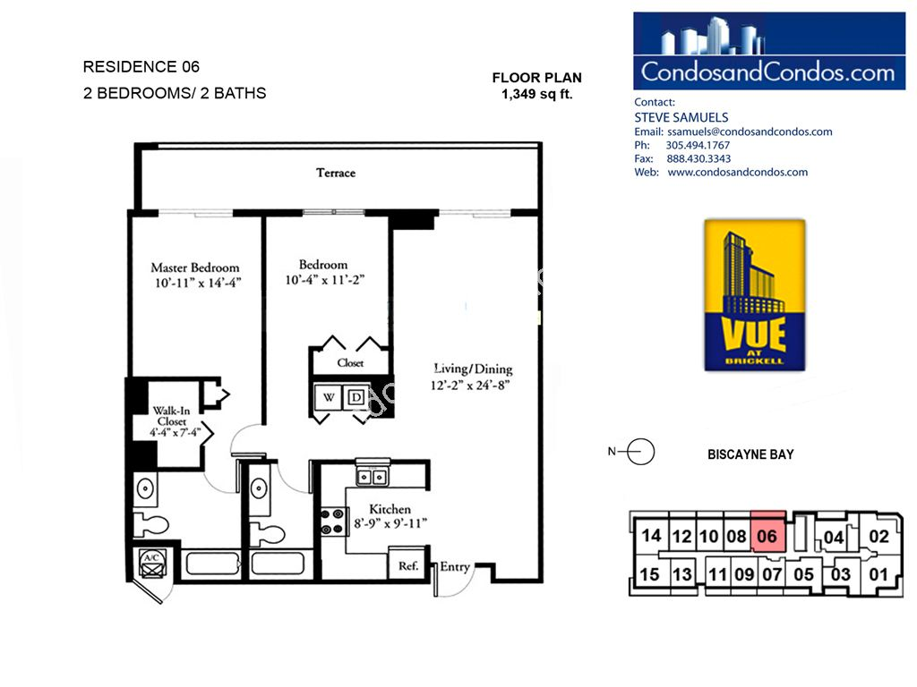 Vue at Brickell - Unit #06 with 1349 SF