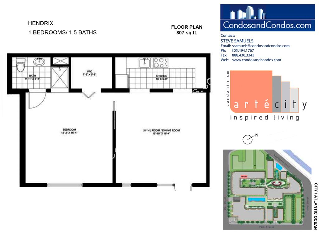 Artecity - Unit #Hendrix with 807 SF