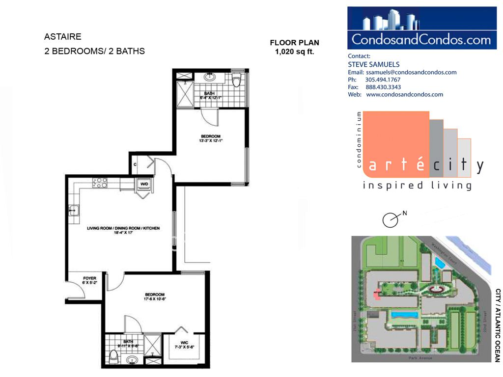 Artecity - Unit #Astaire with 1020 SF