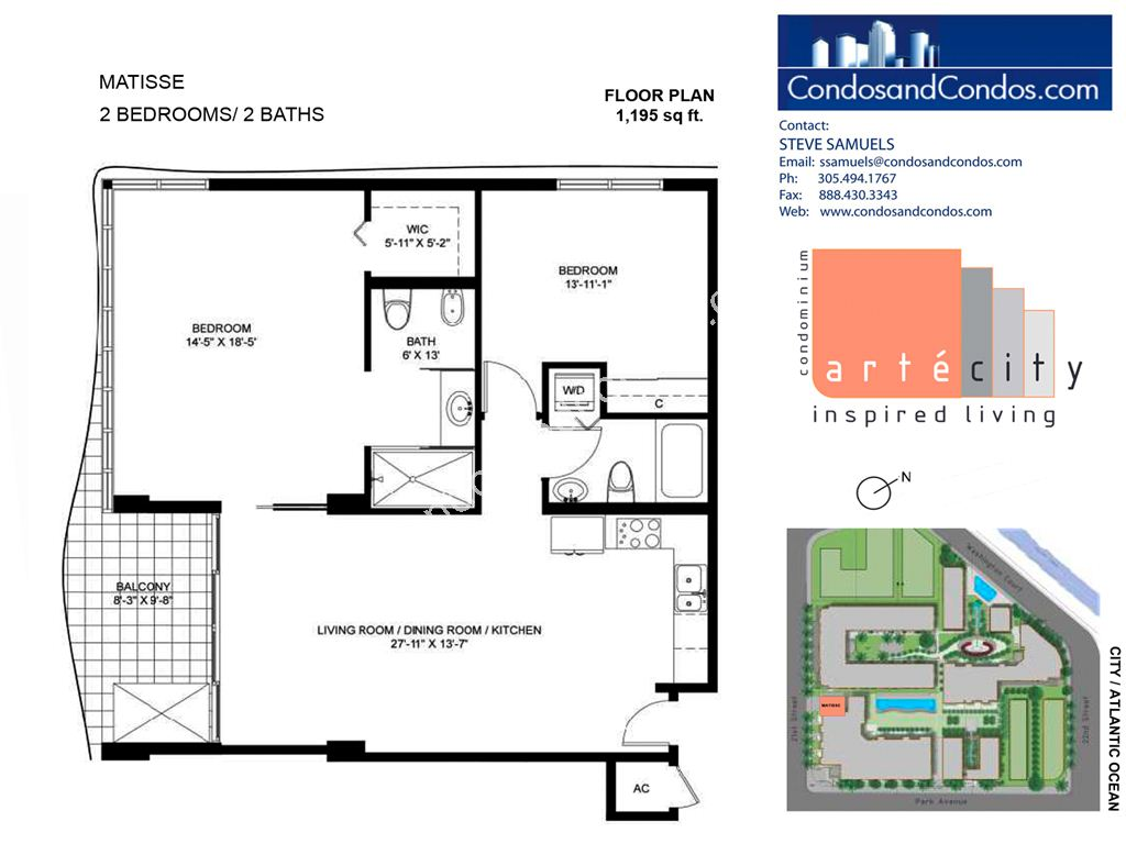 Artecity - Unit #Matisse with 1195 SF