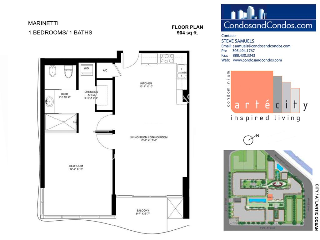 Artecity - Unit #Marinetti with 904 SF